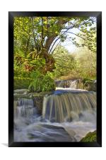 Water fall in Scotland, Framed Print