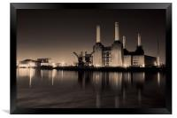 battersea Power Station Toned, Framed Print