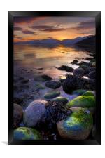 Sunset On Loch Linnhe, Scotland, Framed Print