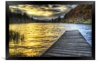 Loch Ard Sunset at the Jetty, Framed Print