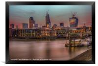Days End in the City, Framed Print