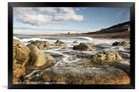 Chesil Cove Swell, Framed Print