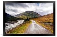 Road to Glen Coe, Framed Print