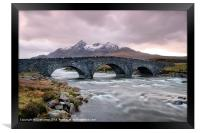 Under the Arches at Sligachan River, Framed Print