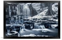 Frozen Scaleber Force Falls, Framed Print