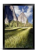 Cathedral Rocks in Yosemite Valley, Framed Print