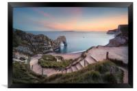 Winding Way to Durdle Door, Framed Print
