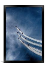 Red Arrows, Framed Print