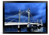 Albert bridge, London, Framed Print