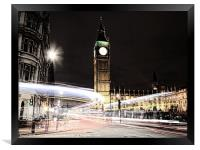 Big Ben with Light Trails, Framed Print