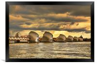 Thames Barrier, Framed Print
