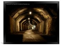 Chee Tor No 1 Tunnel, Derbyshire, Monsal Trail, Framed Print