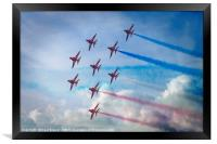 Red Arrows in Weymouth, Framed Print