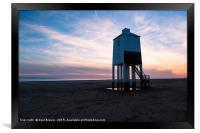 Sunset with cloudy skies, Framed Print