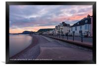 Evening in Sidmouth, Framed Print