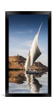Sailing the Nile, Framed Print