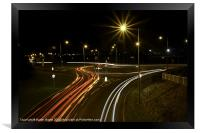 Night time Driving, Framed Print