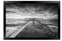 Sea and Cloud movement, Framed Print