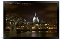 St Pauls London, Framed Print
