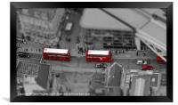 London Buses from above, Framed Print