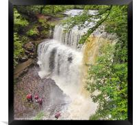Canyoning in the Brecon Beacons, Framed Print
