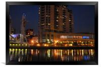 salford quays and lowry centre at dusk, Framed Print