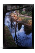 The River in Uppermill, Framed Print