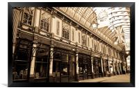 Leadenhall Market London, Framed Print