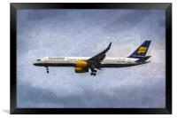Icelandair Boeing 757 Art, Framed Print