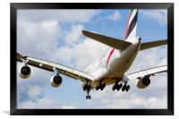 Emirates Airbus A380, Framed Print