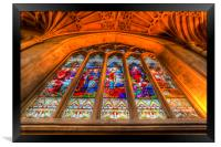 Abbey Stained Glass Window, Framed Print