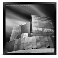 Long Exposure Euro Center VNG, Framed Print