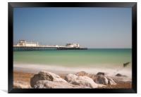 Worthing  Beach View, Framed Print