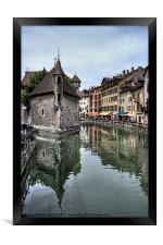 Annecy Old Town and Prison, Framed Print