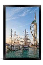 Old & New at Gunwharf Quays, Framed Print