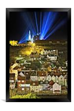 Whitby Abbey on a Gothic Victorian Night, Framed Print