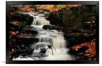 Lumsdale falls , Framed Print