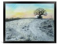 Snowy Oak, Framed Print