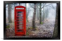 British phone box , Framed Print