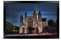 Rochester Cathedral at Dusk, Framed Print