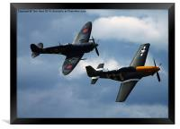 The Spitfire and Mustang, Framed Print