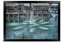 The Fountain at Renegades, Framed Print
