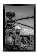 Apache Longbow Attack Helicopter, Framed Print