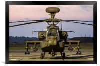 Apache attack helicopter, Framed Print