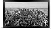 Manhattan, New York from the top of the Rockefell, Framed Print