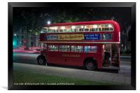 London Red Double Decker Bus in Parliament Square , Framed Print