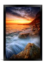 Rock a nore splash, Framed Print