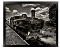Waiting at the Station, Framed Print