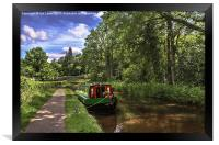 Towpath at Talybont on Usk, Framed Print