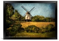 Cobstone Windmill Above Turville, Framed Print